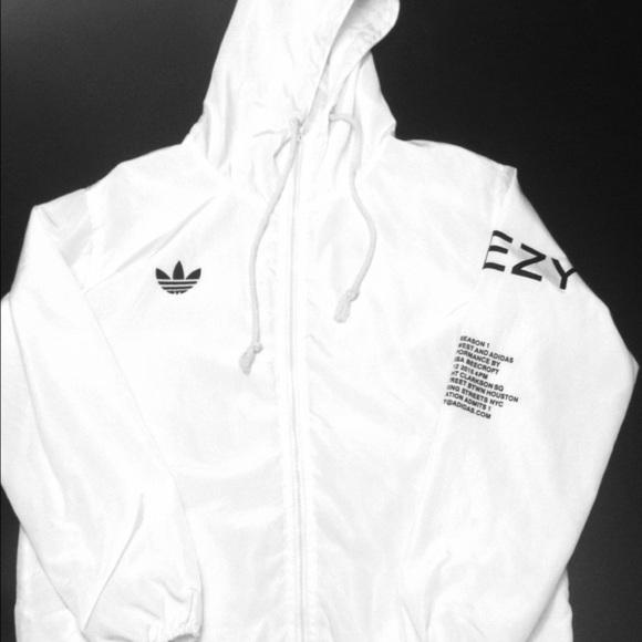 yeezy 3 white windbreaker jacket